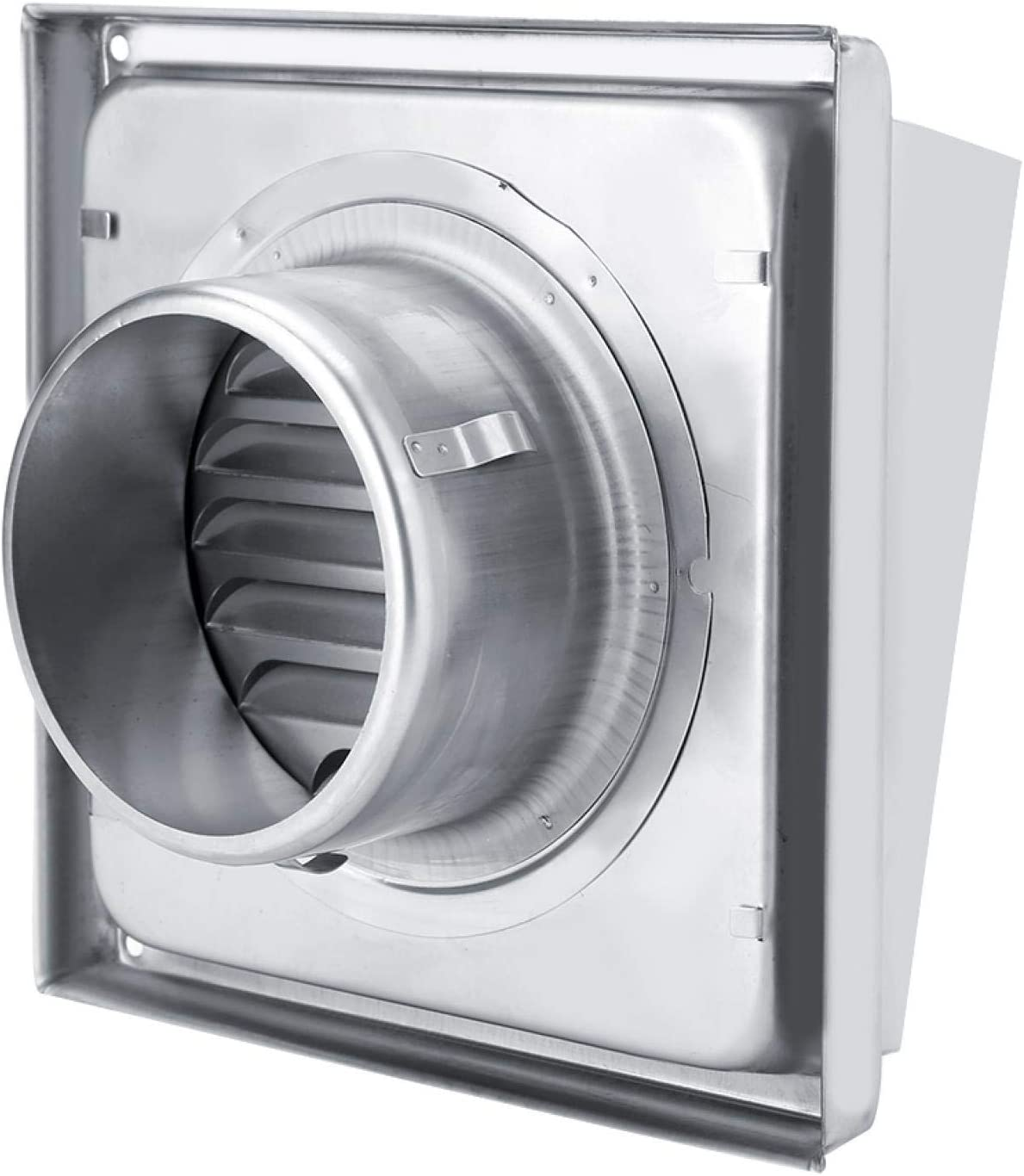 Ventilaciones de Aire de Acero Inoxidable 304 95 mm, Rejilla de Conducto de Ventilación de Aire Cuadrada Ventilación de Pared Externa Salida de Ventilador Extractora Cuadrada Para Baño Oficina