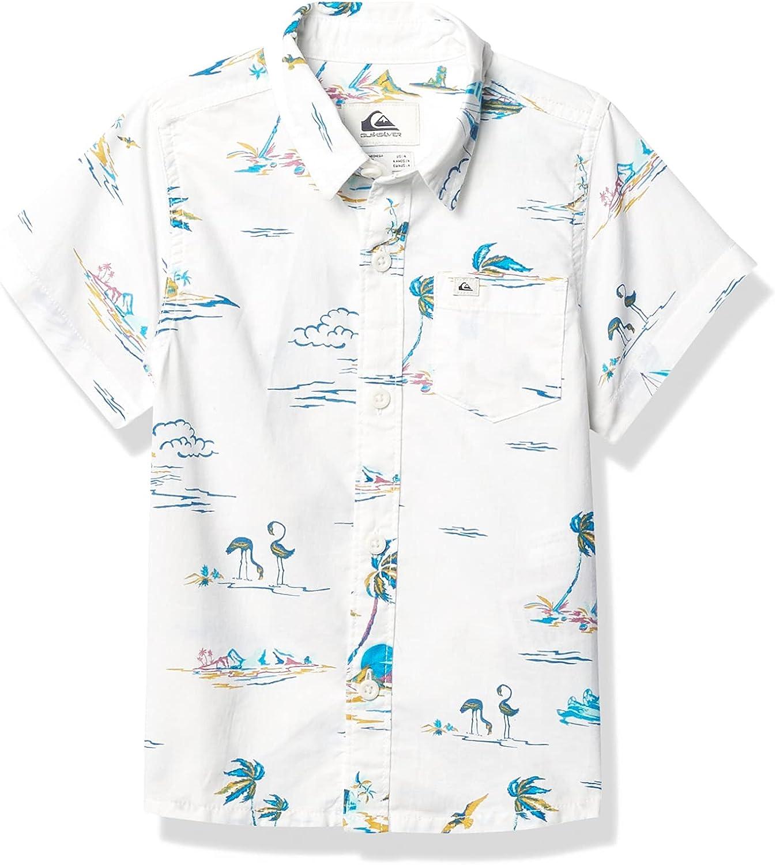 Quiksilver Island Store Breeze Direct sale of manufacturer Short Sleeve Up Boy Button Shirt