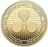 Ripple Coin, Brass with gold Plating, acabado: Polished Plate, 40x 3mm, en acryllic Cup,