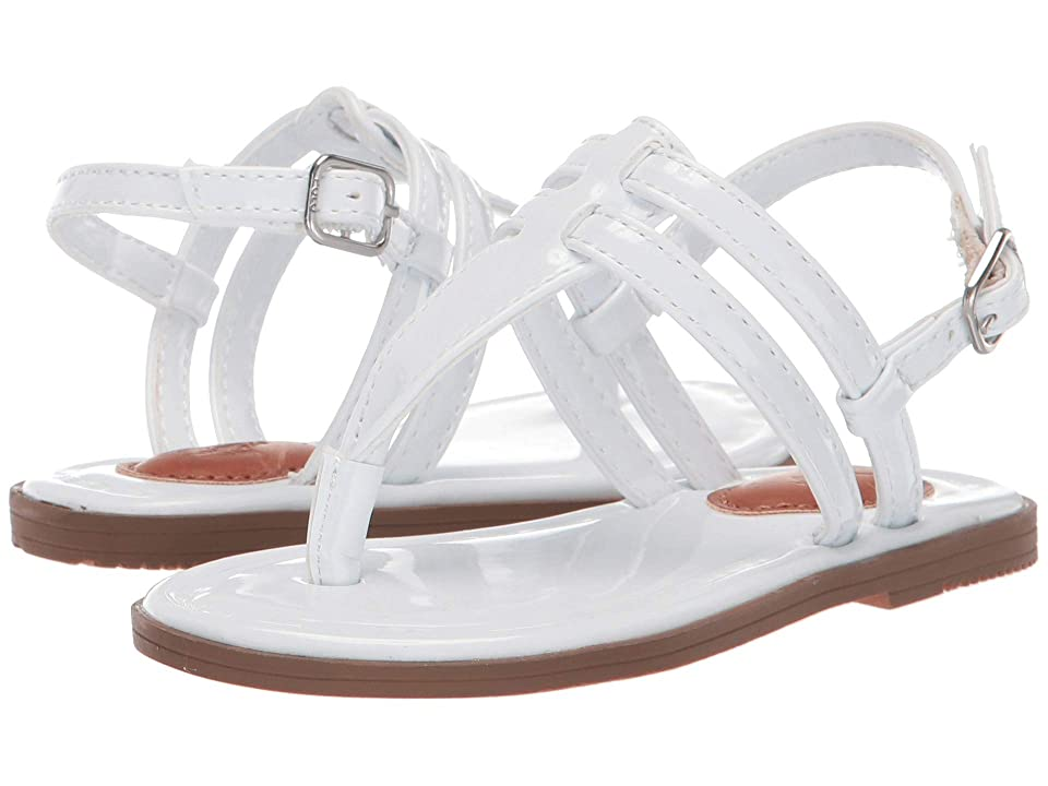 Polo Ralph Lauren Kids Tierney (Toddler) (White Patent) Girl