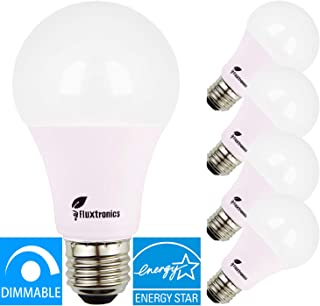 Energy Star Listed A19 ~ A21 LED Light Bulb, Dimmable, 1600 Lumens, 100 Watt Equivalent, 5000K Daylight, 15W = 100W Light Bulb, E26 Base LED Bulb, UL Listed, 5 Years Warranty, 4-Pack