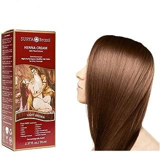 Surya Brasil Products Henna Cream, Light Brown, 2.37 Fluid Ounce