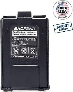 Baofeng Battery BL-5 7.4V 1800 mAh Big Capacity Li-ion for DM-5R UV-5R UV-5RE BF-F8HP UV-5R V2+ Plus UV-5RTP Series Two Way Radio by Mirkit Store