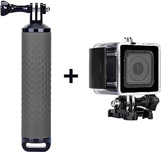 TKOOFN Carcasa Impermeable para GoPro Hero 5 Session/Hero 4 Session Buceo 60m Bajo el Agua de Protección Fundas con Soporte + Juego de Empuñadura Flotante Resistente al Agua