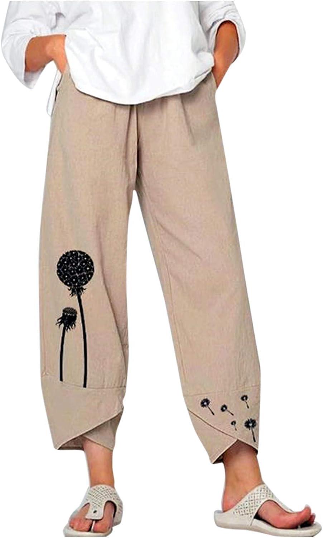 GALAFIRE Lounge Omaha Mall Pants depot Womens Wide Leg Si Plus Harem Waisted High