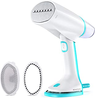 BEAUTURAL Foldable Travel Steamer for Clothes, Dual Voltage Automatic Adjustment, Powerful Handheld Home Garment Fabric Wr...
