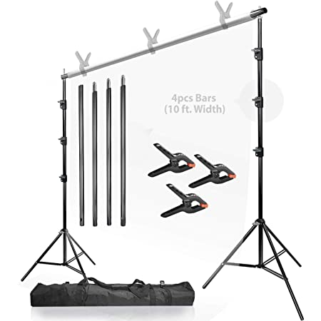 LimoStudio Photo Studio Black and White Backdrop Background Kit AGG795 Backdrop Support Stand with Carry Bag