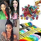 Creamily Haarschmuck, 8 Farben, Magic Hair-Strähnen, Boxer-Zöpfe, Haarschmuck, Styling, Zopf-Zubehör mit Dreadlock-Perlen, Mikroringen