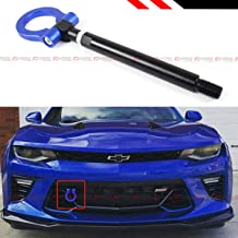 Cuztom Tuning Fits for 2016-2019 Chevy Camaro LS LT SS ZL1 Black Blue Bumper Folding Ring Screw on Type Tow Hook