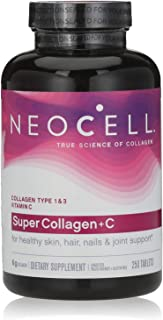 Neocell Super Collagen Plus C, Type 1 and 3 - 6000 mg - 250 Tablets