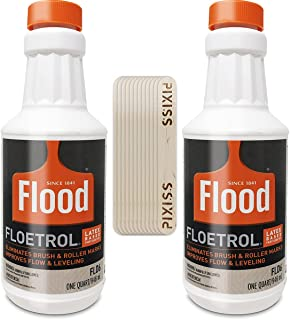 Floetrol Paint Additive Pouring Medium for Acrylic Paint - Flood Flotrol Additive & Paint Extender (2-Pack), 20 Pixiss Woo...