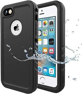 Cozycase Funda Impermeable para iPhone 5/ iPhone 5S/ iPhone SE, Waterproof Case a Prueba de choques a Prueba de Polvo Anti-rasguños Full Body Protector (Negro)