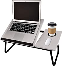 Laptop Table for Bed Portable Computer Tray for Bed,Foldable Bed Desk for Laptop Multi Tasking Laptop Bed Tray(Senior Gray...