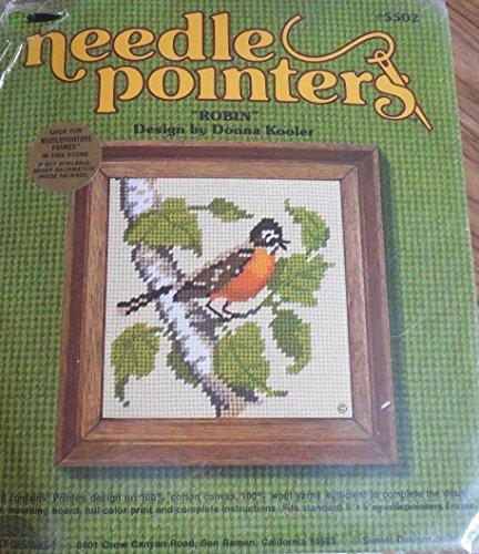 Sunset Jiffy Needlepointers Robin Kit #5502