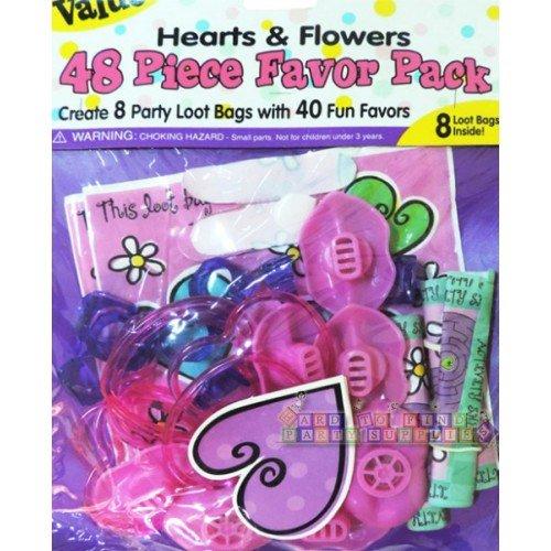 amscan International cœurs et Fleurs Valeur Lot de 48