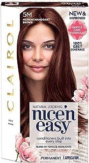 [Nice'n Easy] クレイロール素敵な「N簡単にメディアマホガニーブラウンの5メートルの染毛剤 - Clairol Nice 'N Easy Medium Mahogany Brown 5M Hair Dye [並行輸入品]