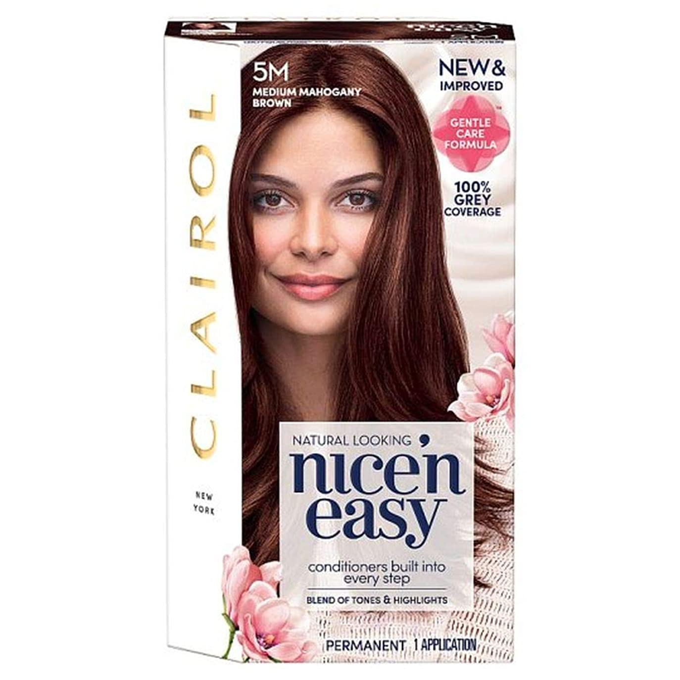 前兆悲しみ差別する[Nice'n Easy] クレイロール素敵な「N簡単にメディアマホガニーブラウンの5メートルの染毛剤 - Clairol Nice 'N Easy Medium Mahogany Brown 5M Hair Dye [並行輸入品]