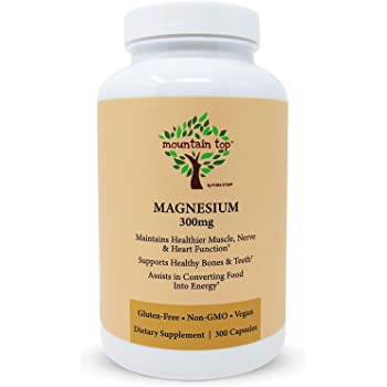 MOUNTAIN TOP Magnesium 300mg Capsules (300 Count) - Magnesium Oxide Mineral Supplement For Nutrition Support