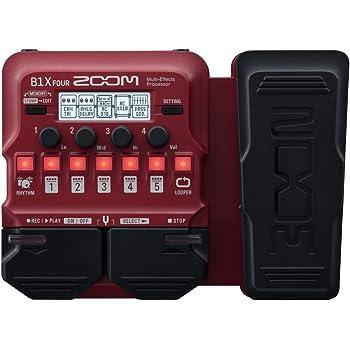 Zoom B1X FOUR - Pedal de efectos para bajo con pedal de expresión ...
