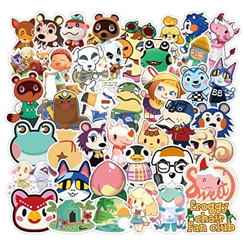 Popular Game Sticker, 101pcs Animal Crossing Stickers Water Bottles - Cute, Waterproof, Aesthetic, Trendy Stickers for Teens, Girls Perfect for Water Bottle, Laptop, Phone, Travel