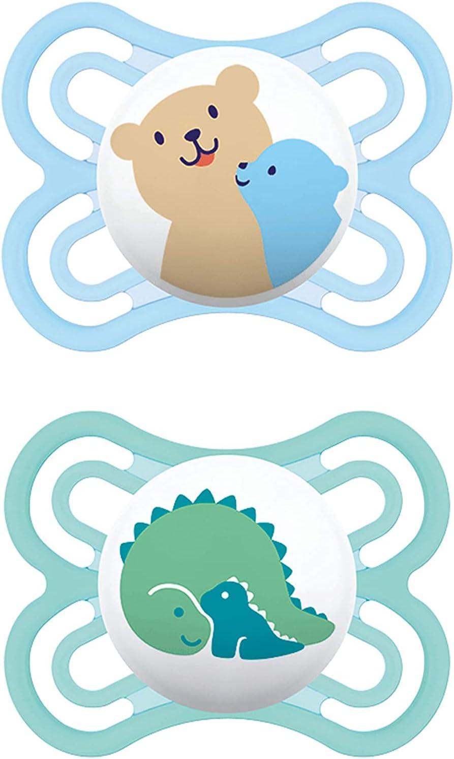 Instrucciones en lengua extranjera - MAM Juego de 2 chupetes Perfect para el desarrollo saludable de los dientes y la mandíbula, 0 – 6 meses, tigre y flor, Instrucciones en lengua extranjera