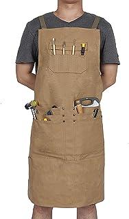 Unisex gereedschapsschort, zware canvas werkschort, waterdichte timmerlieden werkman schorten voor keuken, tuin, aardewer...