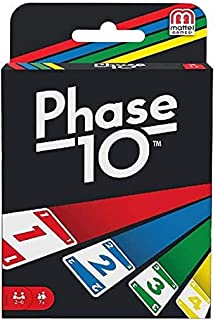 Mattel Games Phase 10, Rummy-type Card Game FFY05