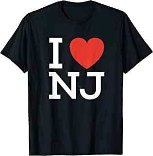 I Love NJ - Heart T Shirt for New Jersey Lovers
