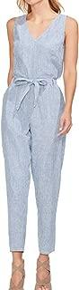 Womens Linen Striped Jumpsuit