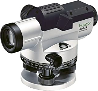 Huepar 32x Automatic Optical Level with Self-Leveling Magnetic Dampened Compensator, Height/Distance/Angle Measuring Tool, 393Ft Working Range, 1/16