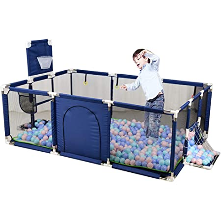 Indoor Outdoor Green Safe Playard Baby Playpen Kids Large Activity Centre with Breathable Mesh Portable Play Yard for Childrens Toddlers Extra Tall 70cm Anti-rollover Game Fence
