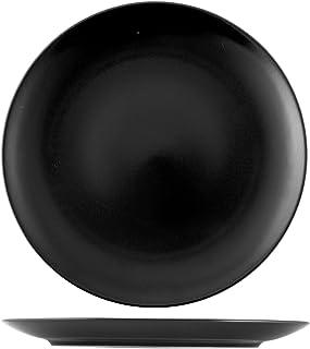 H&H 14020 Denver Lot de 6 Assiettes Plates, en grès Noir, 26 cm