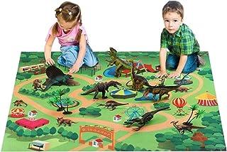 恐竜 おもちゃ 恐竜セット 恐竜図鑑とプレイマット付き 【 SUPER DINOSAUR スーパーダイナソー 】 お片付けボックス 子ども喜ぶ プレゼントに最適