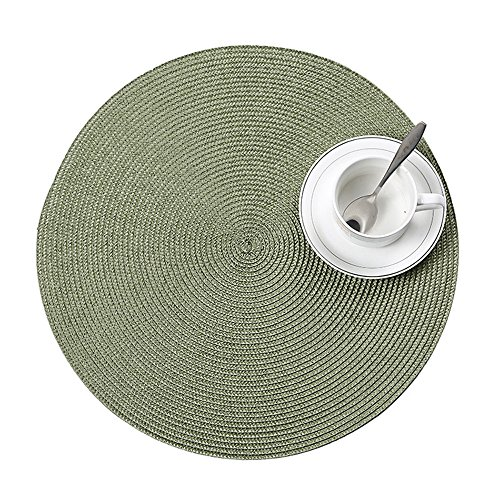 Simple Trivets for Hot Dishes Heat Resistant Pads Woven Coasters for Kitchen Dining Table Solid Color (Diameter: 15in/38cm)