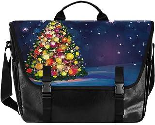 Bolsa de lona para hombre y mujer, diseño retro de árbol de Navidad