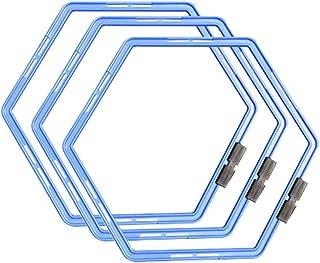 CZ-XING Fysisk Träning Fotboll Tränare Stegar Hastighet Ringar Snabb Fotarbete Träning - Hexagonal Agilitity Ring Tränings...