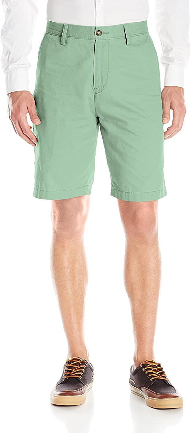Financial sales sale Nautica Men's Cotton Twill Chino Short Front Flat High quality
