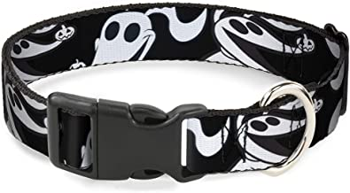 Buckle-Down Dog Collar Plastic Clip Nightmare Before Christmas Zero Expressions Black White Available in Adjustable Sizes ...