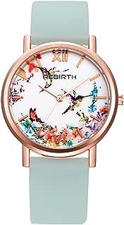 Bosymart Women's Silicone Strap Printed Floral Fashion Casual Quartz Wrist Watch