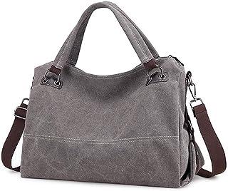 Clearance Canvas Handbag, Shoulder Bag, Ladies Retro Hobo Handbag, Shopping Crossbody Bag, Handbag Leisure Beach Multifunctional Ladies Bag Ladies (gray) SYLOZ