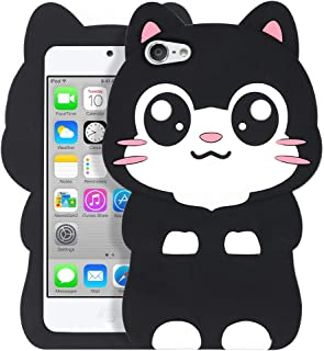 iPod Touch 5 Cat Case, iPod Touch 6 Animal Case, Cute 3D Cartoon Kitty Meow Black Cat Soft Silicone Rubber Phone Cover Case for iPod Touch 5 Generation/iPod Touch 6 Generation (Pocket Cat)
