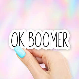 Ok Boomer Vinyl Sticker for Laptops, Windows and Water Bottles
