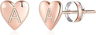 گوشواره های گل میخ اولیه - S925 گوشواره نقره استرلینگ 14K طلای گوشواره نازک گوشواره های ضد حساسیت گوشواره های کوچک کوچک اولیه برای زنان دخترانه گوشواره های دختران حساس کودکان