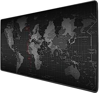 KKmoon Mouse-pad grande com mapa do mundo superdimensionado estendido à prova d'água antiderrapante Teclado para mesa Tape...