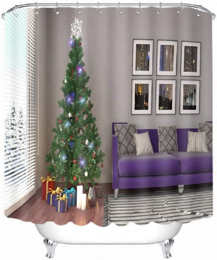DCPPCPD Christmas Purple Sofa Tree C All items free shipping 3D All items in the store Polyester Printed Shower