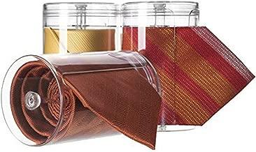 silberfarben mDesign Krawattenhalter und G/ürtelhalter platzsparende Krawatten Aufbewahrung im Kleiderschrank vertikale Aufbewahrung f/ür Krawatten mit 17 Haken