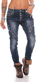 Fashion4Young Women's Jeans Skinny Jeans Harem Trousers Hip Jeans Baggy Harem Jeans Boyfriend