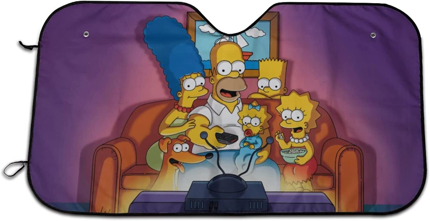 Bart Simpson Car Windshield Sun New sales Shade Sale price Blocks Rays V Uv Your Keep