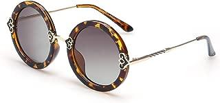 Polarized Sunglasses Women's Glasses Round Large Frame Retro Sunglasses New Round Sunglasses