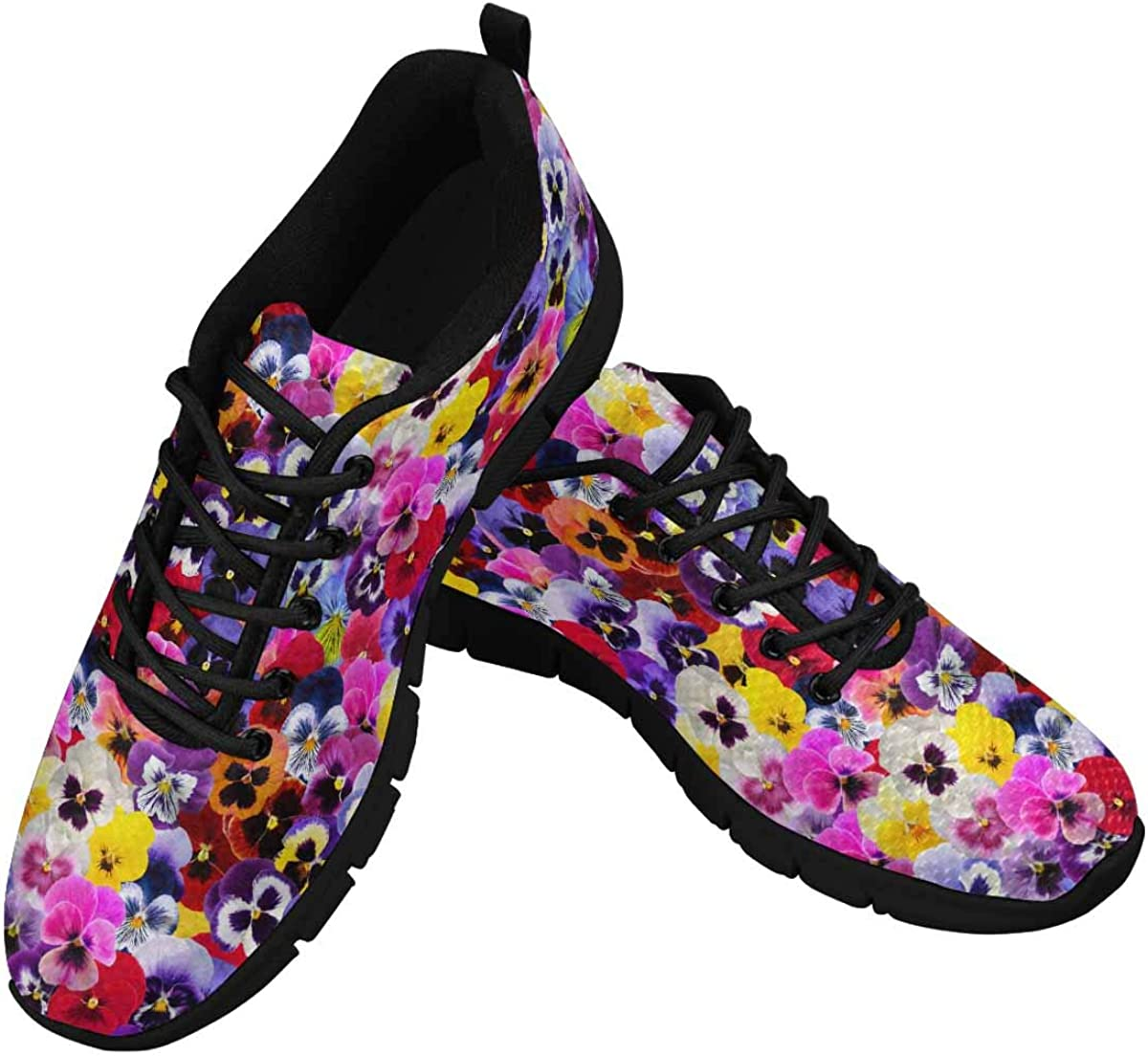 favorite INTERESTPRINT Pansy Background Women's Athletic Shoes Walking Co Super Special SALE held